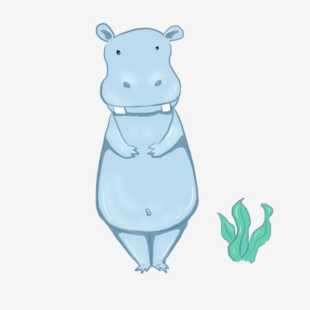 عنصر رسوم متحركة الحيوان فرس النهر أزرق فرس النهر رسوم متحركة Png وملف Psd للتحميل مجانا