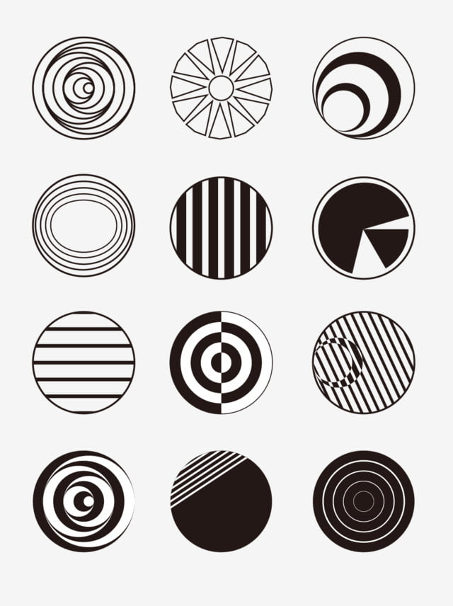 Black And White Cutting Circle Transformation And White,line,circle