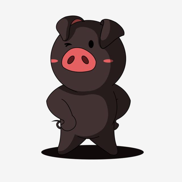 Cochon Noir Dessin Anime Petit Cochon Noir Annee Cochon Dessin Anime