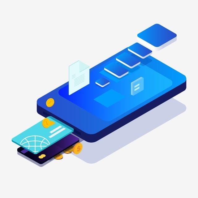 Carte Bancaire Sur Telephone.Elements Bleus De Telephone Portable Et De Carte Bancaire Telephone