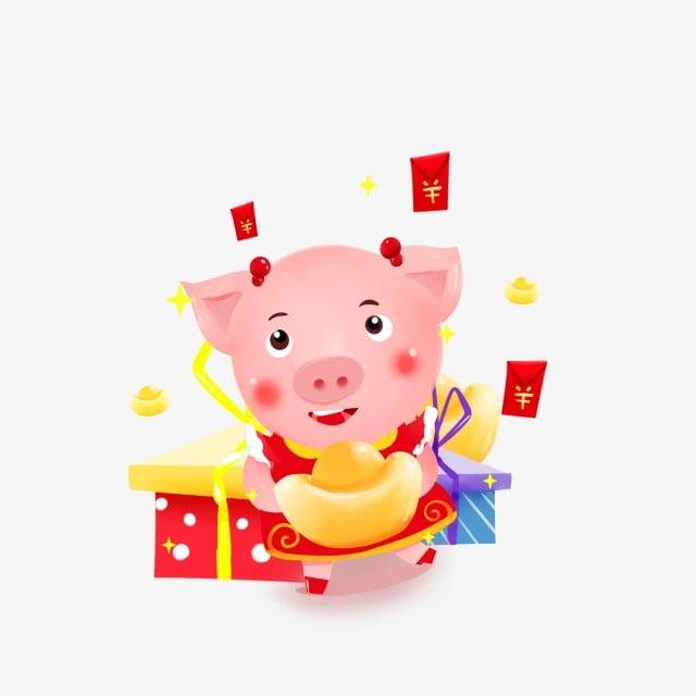 Quadro su tela grasso di maiale cartone animato u pixers