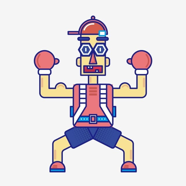 Boxer Cartoon Doodle Modern Can Be Commercial Element, Boxer