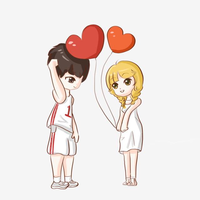 élément Coeur Dessin Animé Couple Amour Dessin Animé