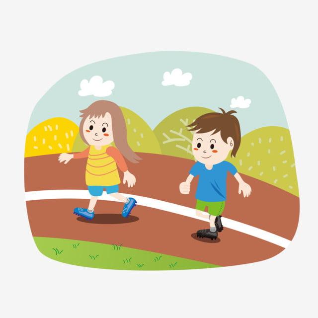 Enfants Mignons Dessin Animé Running éléments De Sport Fitness Plein Air  Athlétisme, Clipart D'athlétisme, Dessin Animé, Extérieur PNG et vecteur  pour téléchargement gratuit