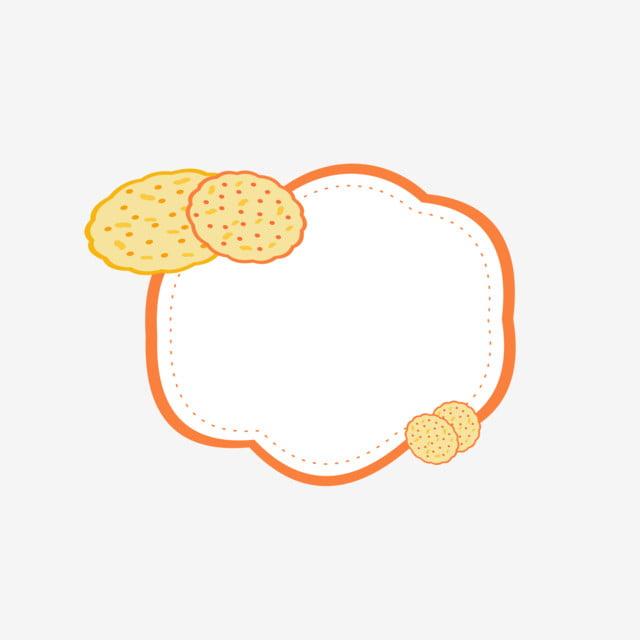 Elemento De Fronteira Cookie Bonito Dos Desenhos Animados