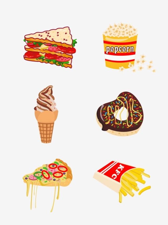 Kartun Makanan Lucu Elemen Menetapkan I Rasi Per A Png Dan V R