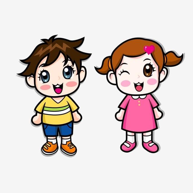 Gambar Kartun Murid Laki Laki Gadis Kecil Yang Lucu Boy Clipart Gadis Kartun Png Dan Vektor Dengan Latar Belakang Transparan Untuk Unduh Gratis