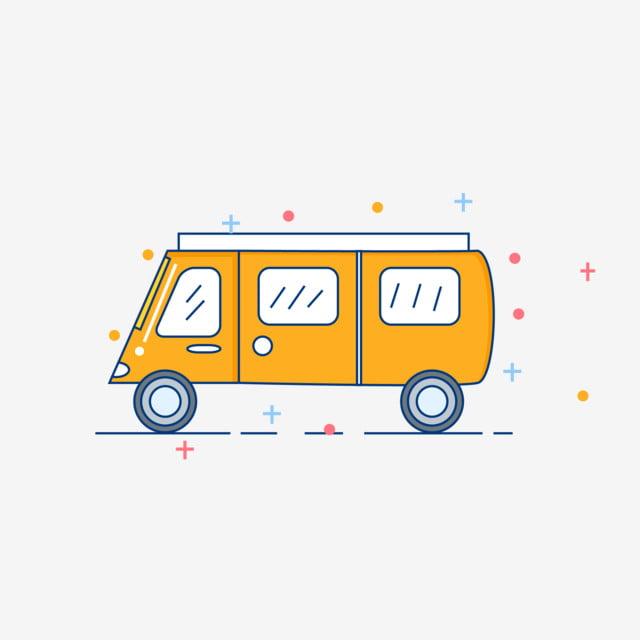 Cartoon Niedliches Einfaches Auto Auto Nettes Auto Comic Auto Png