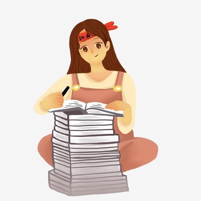 Menina Dos Desenhos Animados Sentado No Sofa Lendo Um Livro