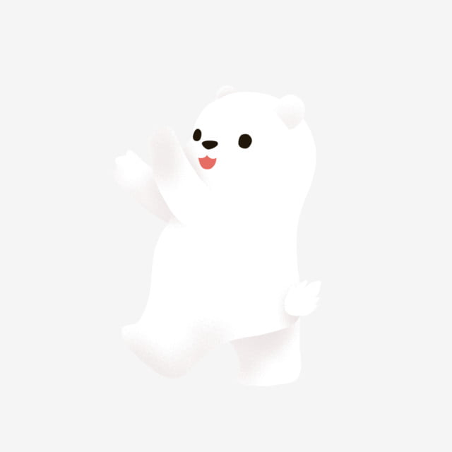 Cartoon Hand Drawing A White Bear Design Paintedanimal