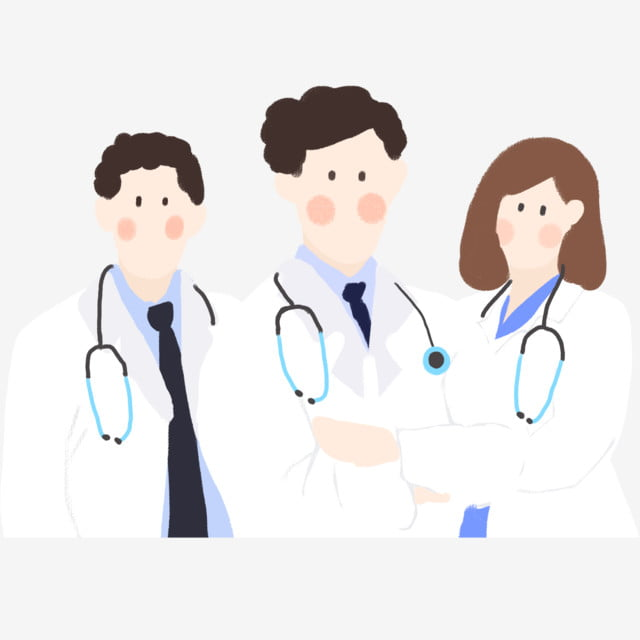 Cartoon Male And Female Doctor Elements Doctor Female Doctor