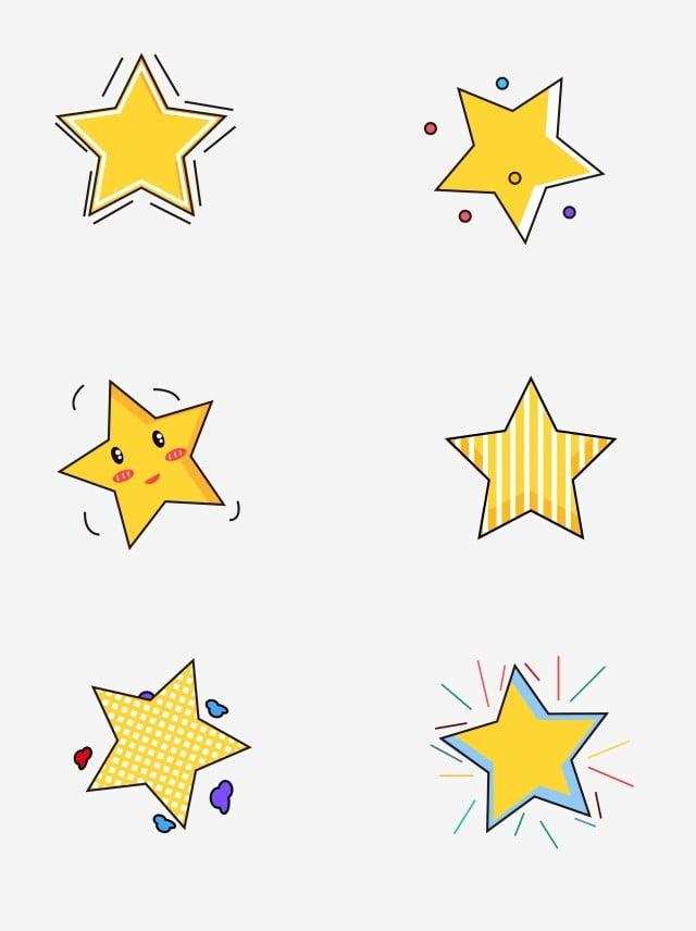 كارتون النجوم لطيف الحد الأدنى, نجمة, النجوم اللطيفة, كرتون ستارز PNG والمتجهات للتحميل مجانا