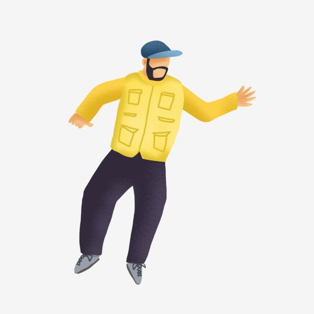 4cd4553710d31 Cartoon Minimalist Dancing Man Man