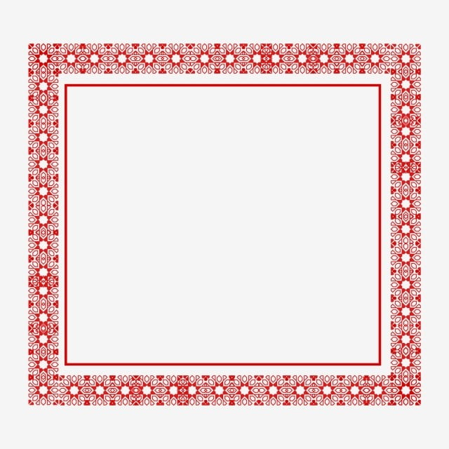 Chinese Style Border Red Decorative Material Design, Chinese Style ...