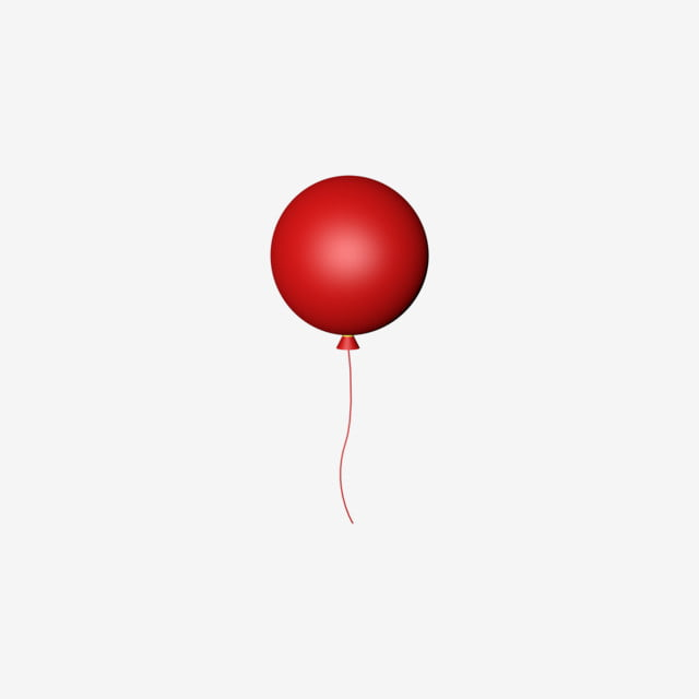Christmas Balloons Red Stereo C4d Balloon Red Balloon