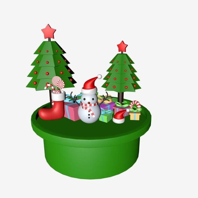 f1b594e2e8527 3d Christmas Tree Snowman Christmas Gift Hat Christmas Material Tree ...