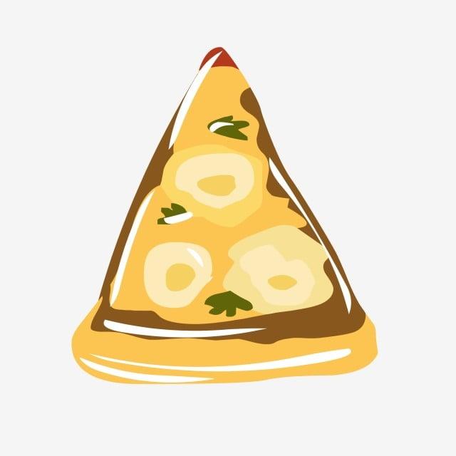 Elemen Makanan Pizza Kartun Tangan Elemen Makanan Makanan Yang