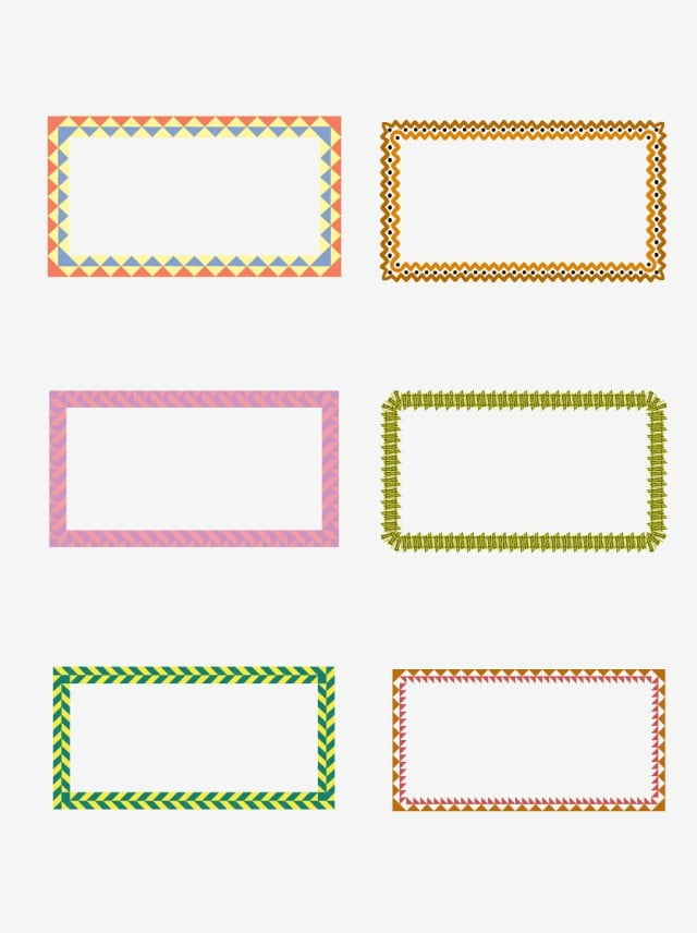 c28ef9657f Geometric Border Collection For Commercial Elements Shape
