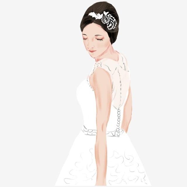 Drawing Wedding Dress Material