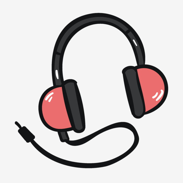 Hand Drawn Cartoon Pink Headphones Elements, Headset, Cartoon, Pink PNG and  Vector with Transparent Background for Free Download