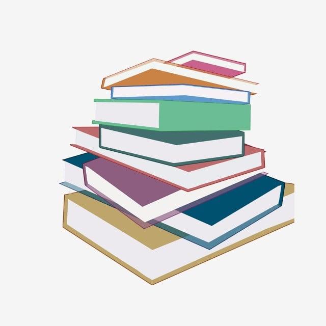سكرابز كتب للتصميم Pngtree-hand-drawn-stack-of-books-color-design-paintedcolorbookbookstextbookpostgraduatereviewlearneducationillustration-png-image_679358