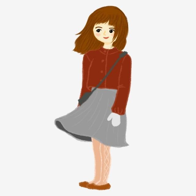 78b76473f يمكن رسمها رسمت باليد الفتيات في فصل الشتاء تنورة قصيرة بلوزة رمادية تكون  العناصر التجارية حر PNG و PSD