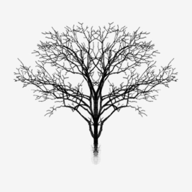 Pintados à Mão Simples Inverno Preto E Branco Silhueta De árvore Morta Pode  Ser Material Comercial, Silhueta, árvore, Madeira Morta Arquivo PNG e PSD  para download gratuito