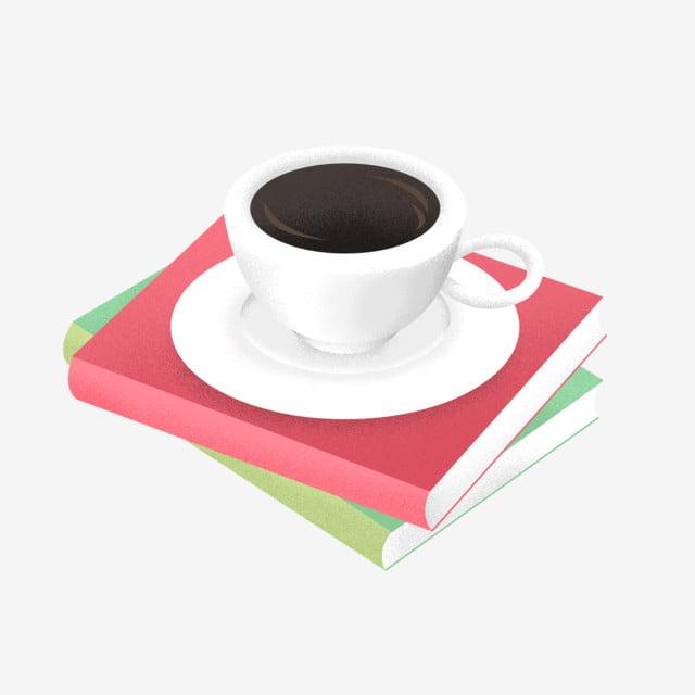 Pile De Livres Peints A La Main Et Une Tasse Cafe Texture
