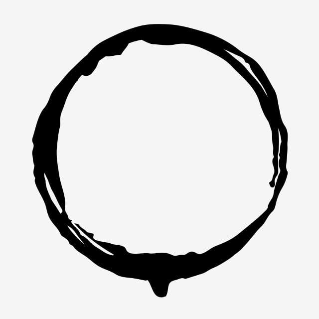 Ink Border Black Minimalist Linear Material, Ink, Frame