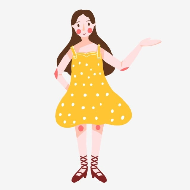 Lin Yuyu Cartoon Cute Design With A Hoe Hand Painted Lovely Q