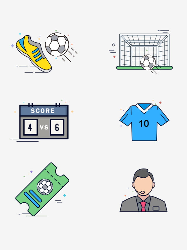 Mbe Sports Game Kick Football Cartoon Sport Icon Element