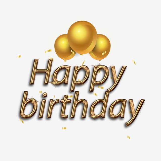 Happy birthday gold. Metal wind happybirthday element