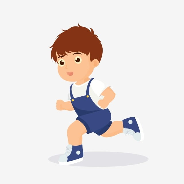Running Boy Character Material, Cartoon, Lovely, Child PNG