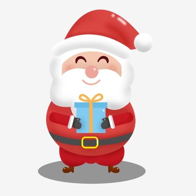 éléments Commerciaux Mignons Du Père Noël Dessin Animé Le