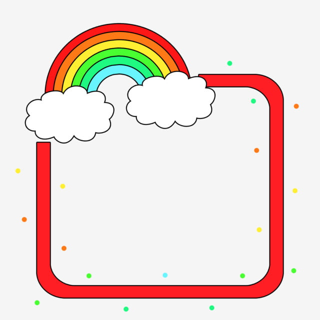 Simple Creative Cute Cartoon Rainbow Border, Simple ...