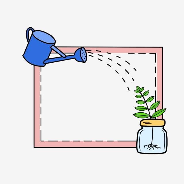 Garden Cute Cartoon: Simple Creative Fashion Cute Cartoon Gardening Border