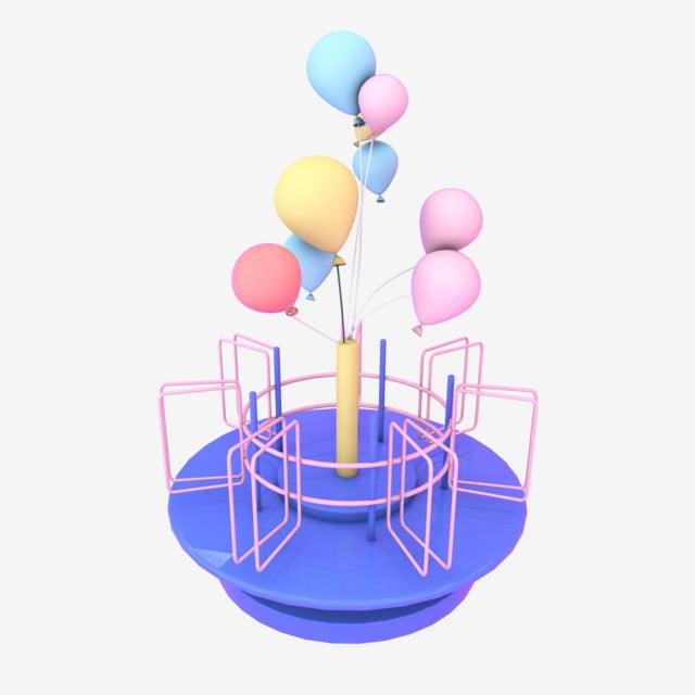 u00c9l u00e9ment d u00e9coratif c4d dessin anim u00e9 table tournante ballon