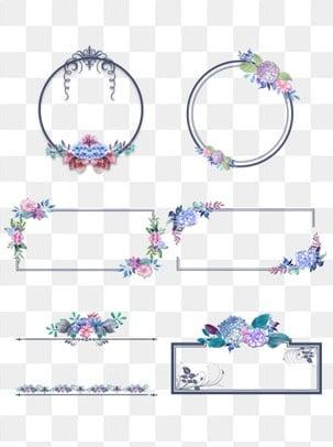 Borde De Flores Imágenes Png Vectores Y Archivos Psd