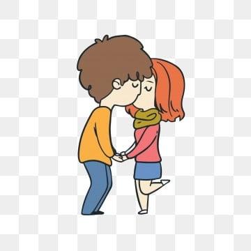 Amor Pareja Dibujos Animados Lindo Besandose Wwwperfectoimagenescom