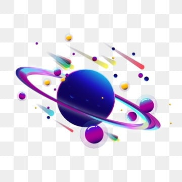 cosmic planet sun moon star popular gradient effect creative design, Universe, Planet, Sun And Moon Stars PNG and Vector