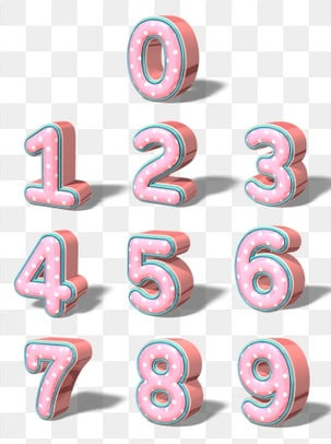 Creative 3d stereo pink   rose gold art number 09, Creative Number, Font Design, Number 0 PNG and PSD