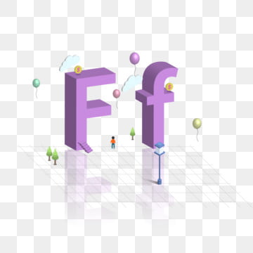 2 5d three dimensional uppercase english alphabet design f, 2.5d, Three-dimensional Characters, Word Design PNG and Vector