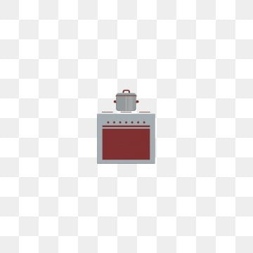 einfaches rotes grau des mobelelementofentopfesherd pot einfach png und psd
