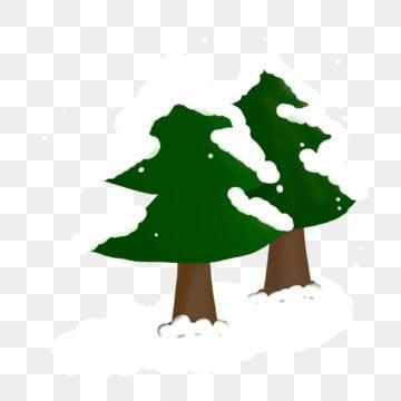 A Arvore De Neve Dos Desenhos Animados Png Images Vetores E