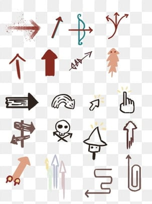 Arrow Sticker PNG Images | Vector and PSD Files | Free