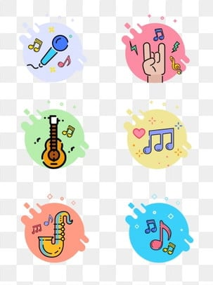 Mbe music note cartoon instrument playing icon element, Mbe, Music, Note PNG and Vector