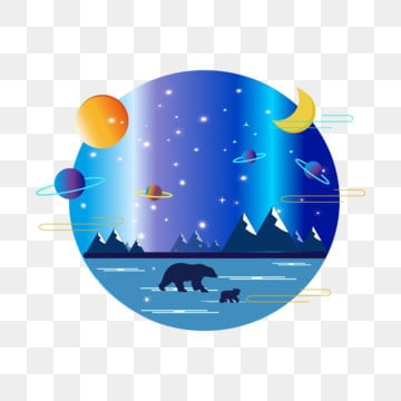 sun moon star arctic night sky universe commercial, Star, Sun And Moon Stars, Arctic Night Sky PNG Image and Clipart