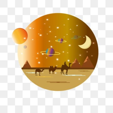 sun moon starry sky desert star universe commercial, Starry Sky, Sun And Moon Stars, Sun And Moon PNG and Vector
