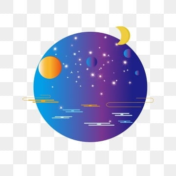sun moon starry sky element star universe commercial, Starry Sky, Sun And Moon, Sun And Moon Stars PNG and PSD