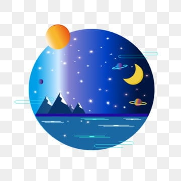 sun moon stars night sky star universe commercial, Sun And Moon Stars, Star Sea, Star PNG and Vector